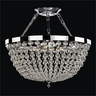 Glow Lighting Arcadia 6-Light Semi Flush Mount