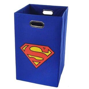 Online Reviews Superman Logo Folding Laundry Hamper By Modern Littles