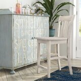 Angelia Solid Wood Bar & Counter Stool by Canora Grey