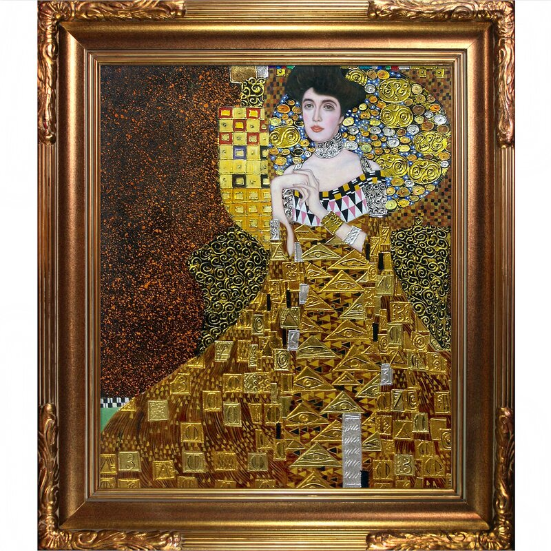 la pastiche portrait of adele bloch bauer i by gustav klimt framed