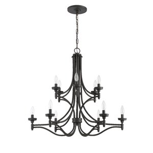 Beauchamp 12-Light Candle-Style Chandelier