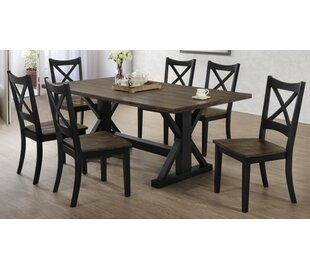 Landrum Dining Set with 6 Side Chairs by World Menagerie