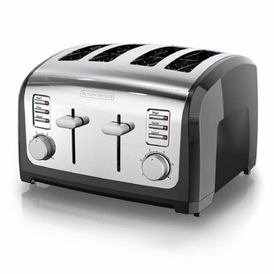 4 Slice Bagel Stainless Steel Toaster