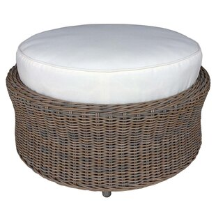 Hobbs Outdoor Ottoman with Cushion by Bayou Breeze