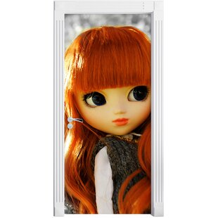 Beautiful Doll In An Autumn Forest Door Sticker By East Urban Home