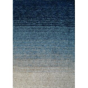 Reviews Moro Shag Hand-Tufted Blue Area Rug By Rug Factory Plus