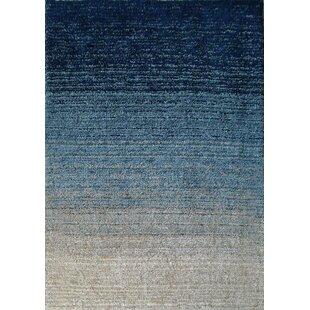 Reviews Moro Shag Hand-Tufted Blue Area Rug ByRug Factory Plus
