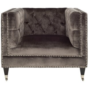 Everly Quinn Folcroft Tufted Velvet Armchair