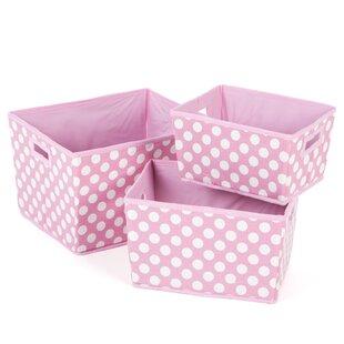 3 Piece Fabric Cube or Bin Set