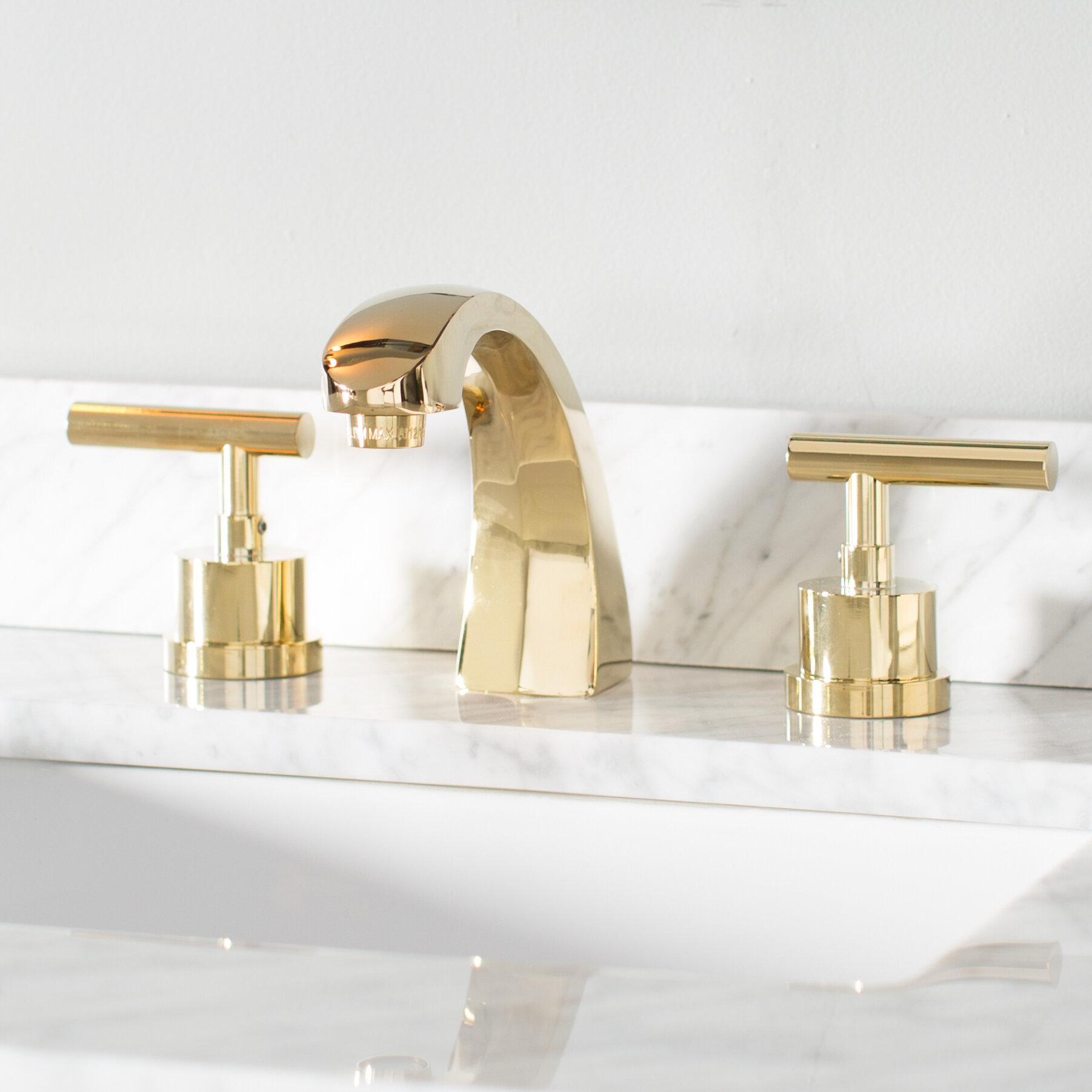 vessel wall kingston product polished brass faucet centers sink mount inch
