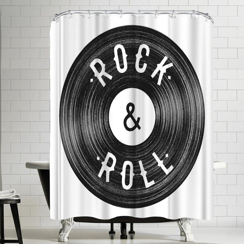 East Urban Home Florent Bodart Rock Roll Single Shower Curtain Wayfair
