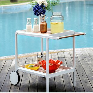 Ebern Designs Lettunich Bar Serving Cart