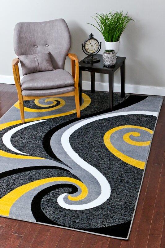 Zipcode Design Miya Modern Yellow Area Rug Reviews Wayfair