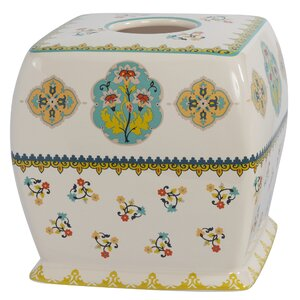 Sasha Bright Ceramic Tissue Box Cover