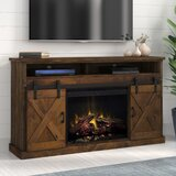Pullman TV Stand for TVs up to 75 with Electric Fireplace Included by Loon Peak®