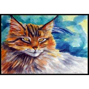 Maine Cat Watching You Doormat