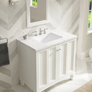 Bargain Caxton Ceramic Rectangular Undermount Bathroom Sink with Overflow By Kohler