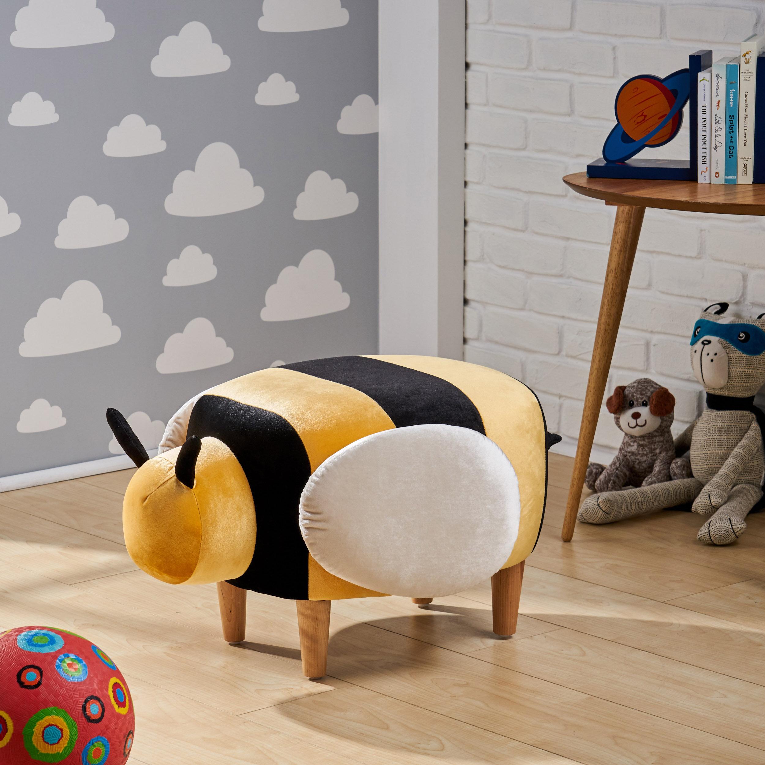 Zoomie Kids Tani Bumble Bee Ottoman Reviews Wayfair