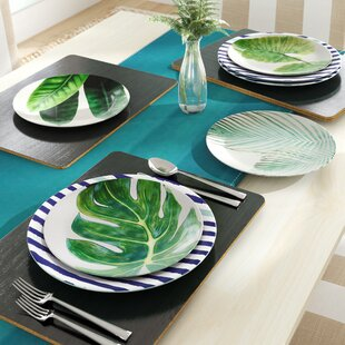 Nawrocki Leaves Melamine Salad Plate (Set of 4)