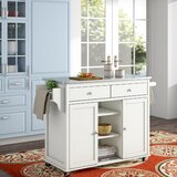 Brecht Kitchen Cart with Stainless Steel Top by Alcott Hill®