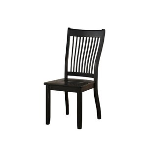 Levy Solid Wood Dining Chair (Set of 2) August Grove