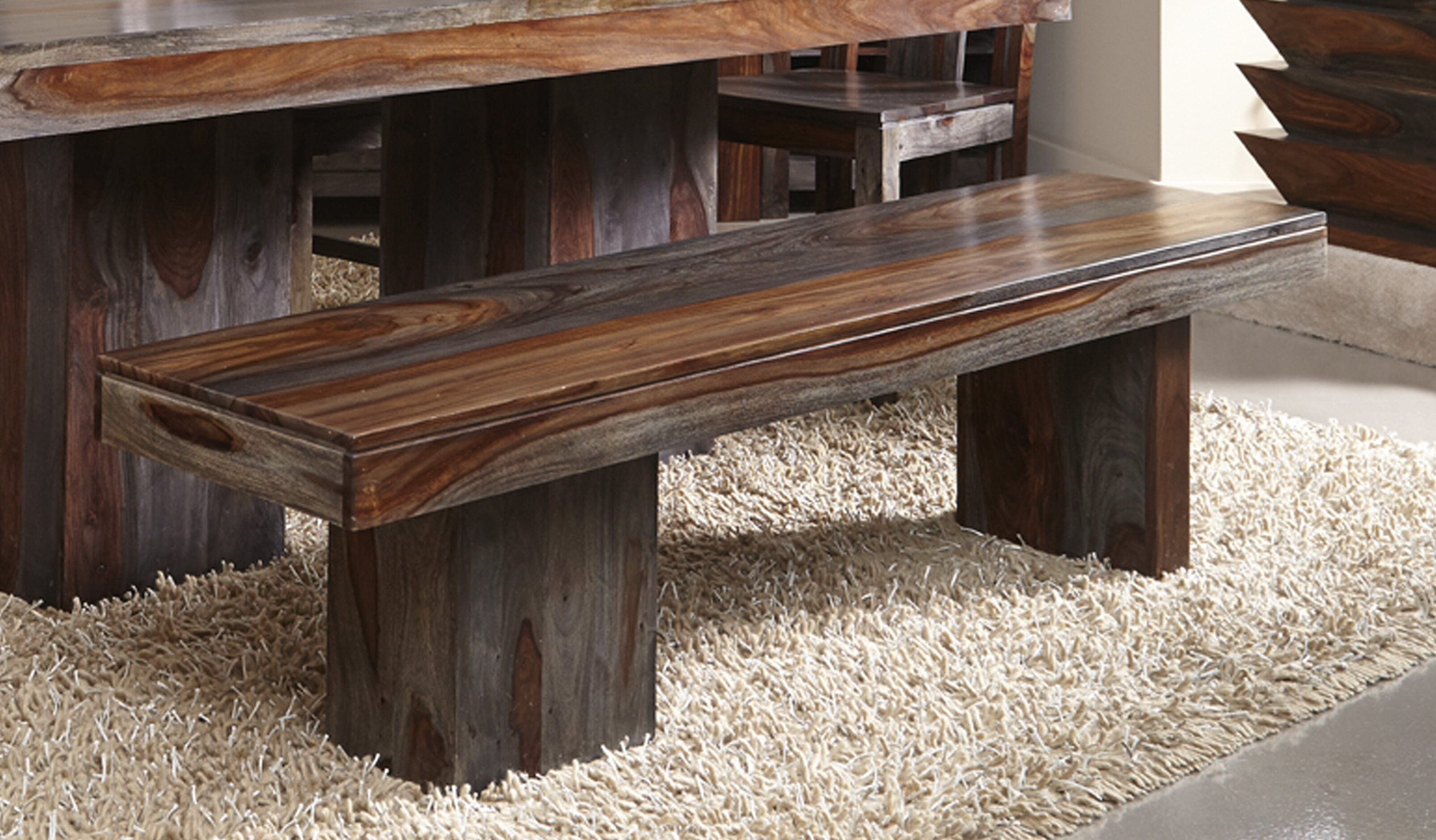 Loon Peak Cothern Wooden Bench