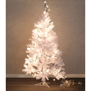pvc frosted 5 white pine artificial christmas tree with 1 clearwhite light with - Christmas White Lights