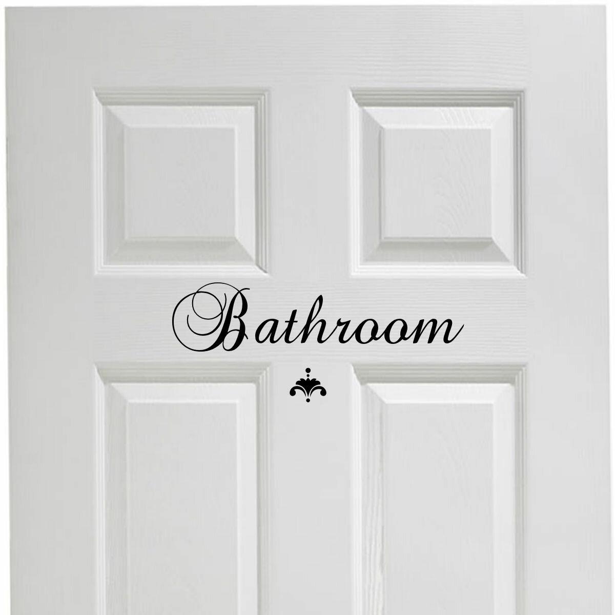 Bathroom Door Decal