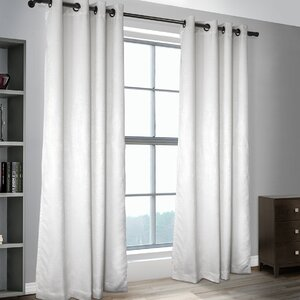 Calorafield Woven Solid Blackout Thermal Grommet Curtain Panels (Set of 2)