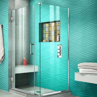 Unidoor Plus 33 x 72 Hinged Frameless Shower Door with Clear Max Technology by DreamLine