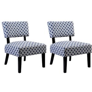 Abstract Slipper Chair (Set of 2) by Container