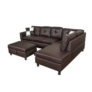 Vihaan Sectional with Ottoman by Ebern Designs