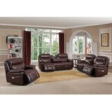 Timor Power 3 Piece Leather Reclining Living Room Set by Ebern Designs