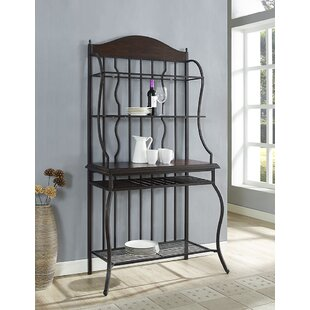Gracie Oaks Mccarthy Wrought Iron Baker's Rack