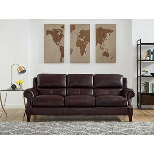 Floodwood Leather Sofa By Red Barrel Studio