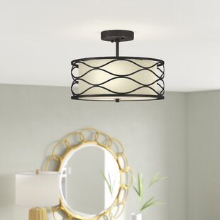 Cherrywood 2-Light Semi Flush Mount by Latitude Run