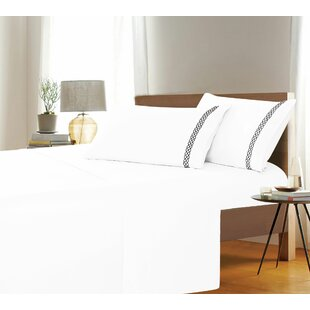 Noriko Embroidered Solid Sheet Set