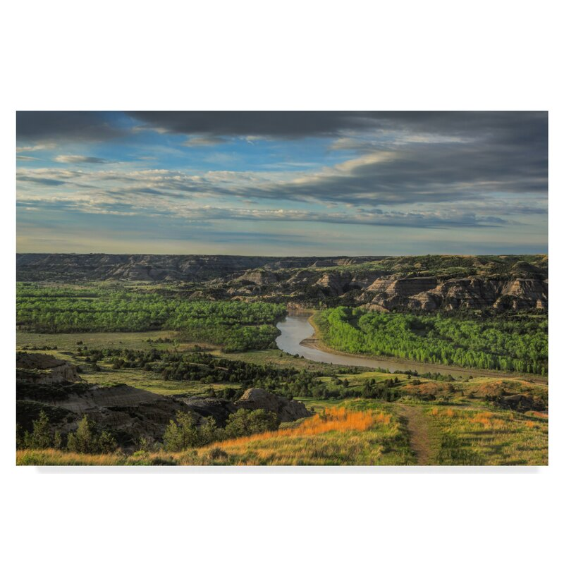 Trademark Art River Bend Overlook Photographic Print On Wrapped Canvas Wayfair