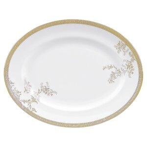Vera Lace Gold Oval Platter
