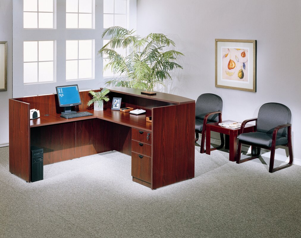 lshape reception desk