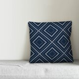 Kenmore Dotted Diamond Square Pillow