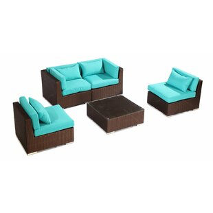Kauna 5 Piece Sofa Set with Cushions