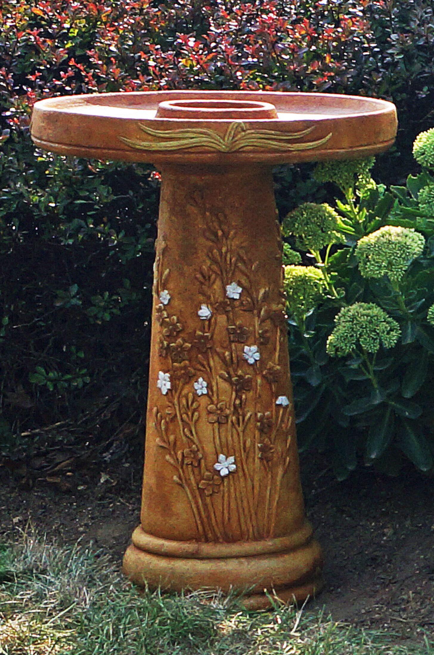 Henri Studio Wetland Flower Birdbath Wayfair