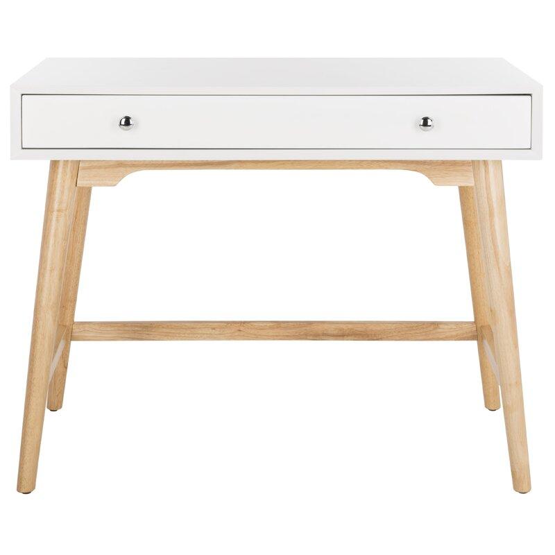 Mercury Row  Faning 1 Drawer Writing Desk Color: White