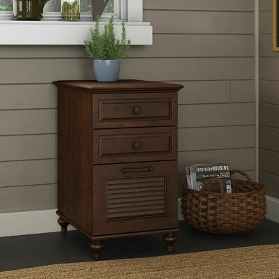 Volcano Dusk 3-Drawer Vertical Filing Cabinet Finish: Coastal Cherry