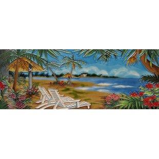 Horizontal Beach Chair Tile Wall Decor