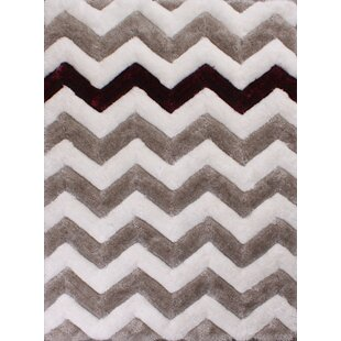 3D Chevron Grey Rug by Ultimate Home Living Group