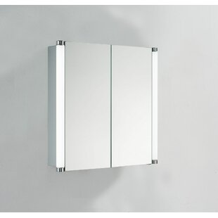 Clarine 70 X 70cm Surface Mounted Mirror Cabinet With LED Lightning By Belfry Bathroom