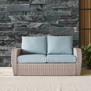 Boomer Wicker Loveseat with Cushion
