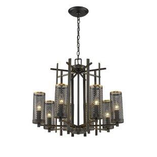 Mertens 8-Light Shaded Chandelier by Williston Forge